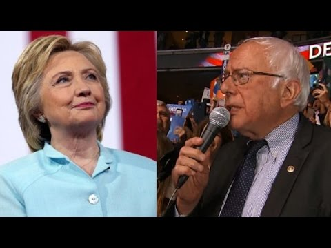 Sanders asks DNC to name Clinton nominee