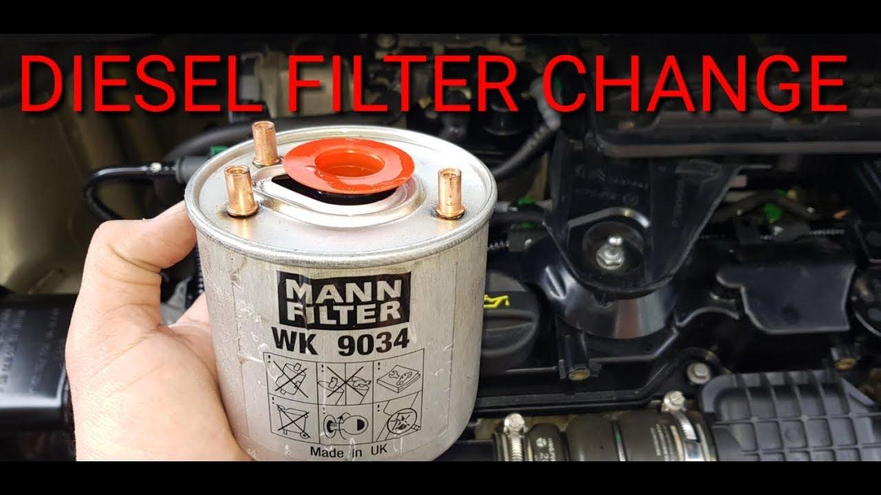 How To Change Citroen Berlingo Fuel Filter Diy Youtube Mann Wk 11030