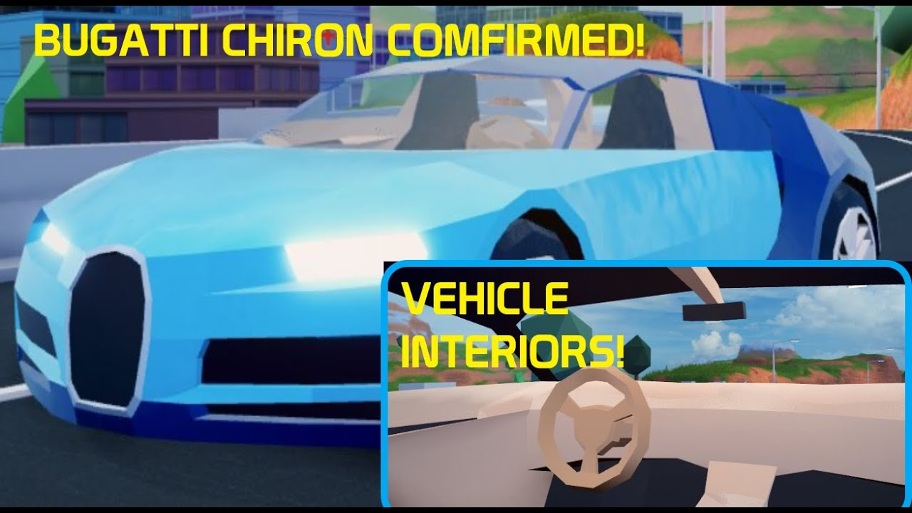 New Bugatti Chiron Is Confirmed Vehicle Interiors Coming Roblox