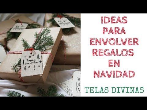 IDEAS PARA ENVOLVER REGALOS EN NAVIDAD. TELAS DIVINAS