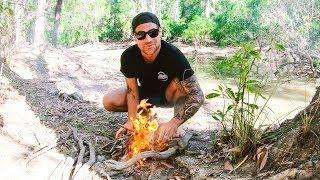 RUNNING WILD IN REMOTE AUSTRALIA EATING WHAT WE CATCH Snakes Crocs Barramundi (SNAKE BITE) - Ep 127