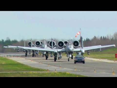 USAF A-10 Thunderbolts Landing in Estonia