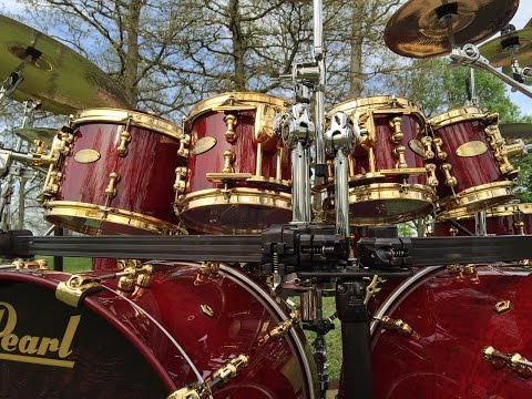 Drum Head Combinations on Pearl Masterworks Drums   Remo, Evans and Aquarian