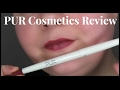 Pur Cosmetics | On Point Lip Liner in Power Trip Lip Swatch & | Review