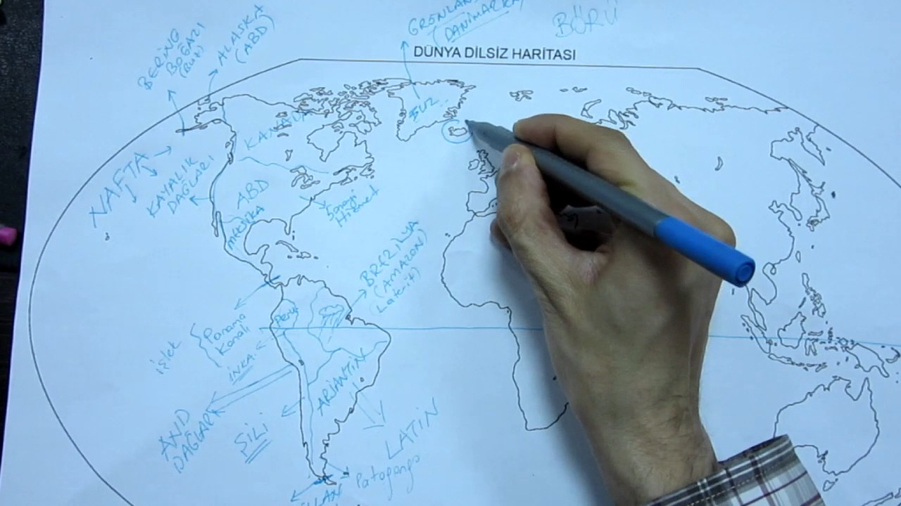Dünya Haritası Tanıtımı Coğrafya Youtube