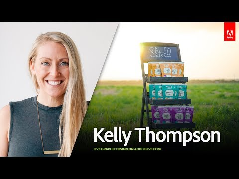 Live Graphic Design with Kelly Thompson 1/3