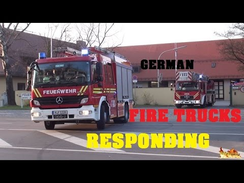 [GERMAN FIRE TRUCKS RESPONDING COMPILATION] 50 Vehicles from 14 German Fire Departments