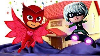 Videos para niños - Juguetes de PJ Masks heroes en pijamas en español - Videos de juguetes de niños