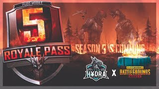 PUBG MOBILE LIVE | SEASON 5 IS COMING WITH MANY SURPRISES | SUBSCRIBE & JOIN ME