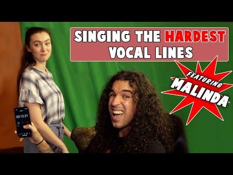 Singing the HARDEST Vocal Lines (feat. MALINDA)