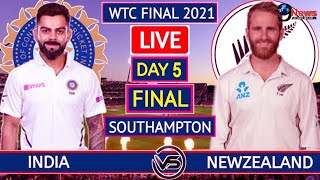 IND VS NZ TEST || DAY 5 LIVE  || India Vs New Zealand WTC FINAL MATCH TEST DAY 5.