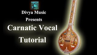 Carnatic Music beginners lessons Online Skype videos Learn Indian Carnatic vocal singing instructors