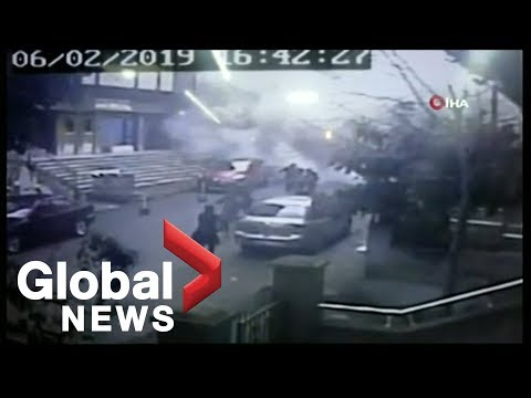 CCTV footage shows moment multi-storey building collapses in Istanbul