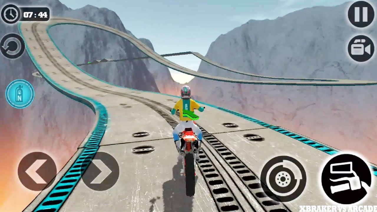 Impossible Moto Bike Tracks 3D: Levels 14,15 Driving Stunts - Android GamePlay 2019