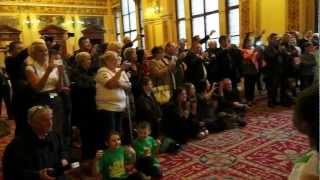 Thai Tims sing The Celtic Song at City Chambers, Glasgow.