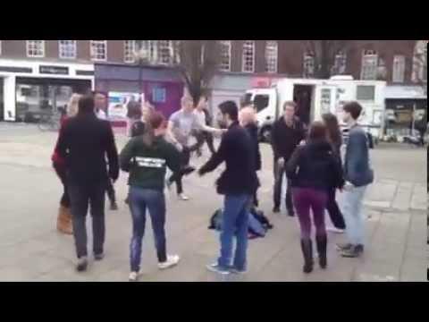 International Rueda de Casino Flashmob 28/03/15 University of Southampton SalsaSoc