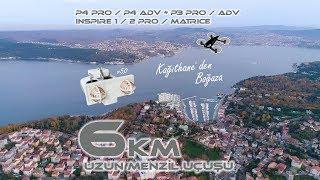 Kağıthane 39 den Sarıyer 39 e Boğaz turu 6km Uzun Menzil Uçuşu