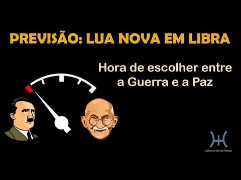 PREVISÃO: LUA NOVA EM LIBRA - HORA DE ESCOLHER ENTRE A GUERRA E A PAZ