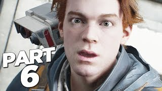 STAR WARS JEDI FALLEN ORDER Walkthrough Gameplay Part 6 - AT-ST BOSS (FULL GAME)