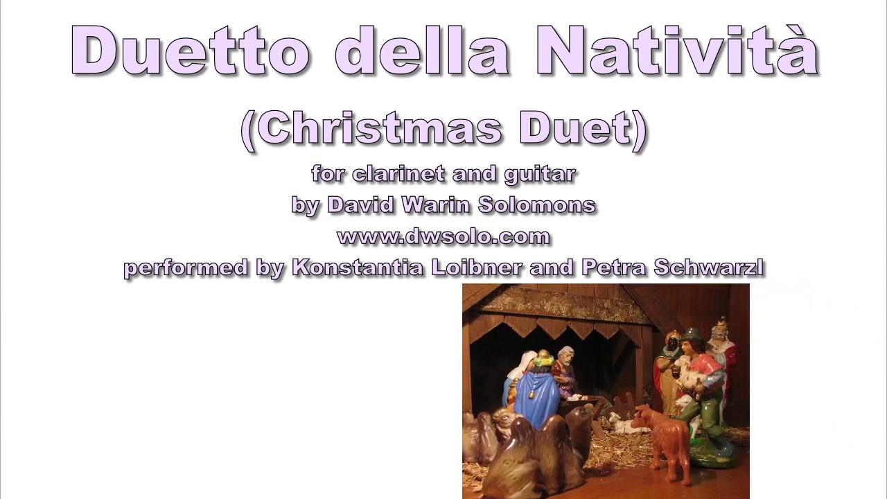 Duetto della Natività (Christmas Duet) for clarinet and guitar - YouTube