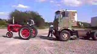 Farmall Super C Pulling CrackerBox