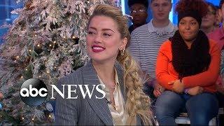 Amber Heard dishes on Jason Momoa