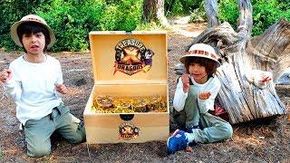DANI Y EVAN y el TESORO de TREASURE X DRAGONS GOLD en el PORTAL OSCURO 😱