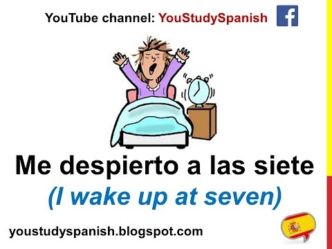 Spanish Lesson 30 - Describe your DAILY ROUTINE in Spanish for kids La rutina diaria en español