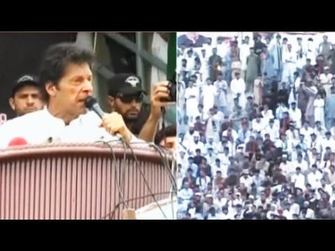 Imran Khan Bannu Jalsa - Khan Challenges Fazl ur Rehman and Akram Durrani