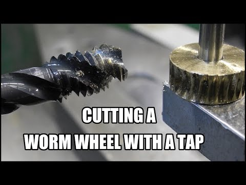 cutting a worm wheel with a tap