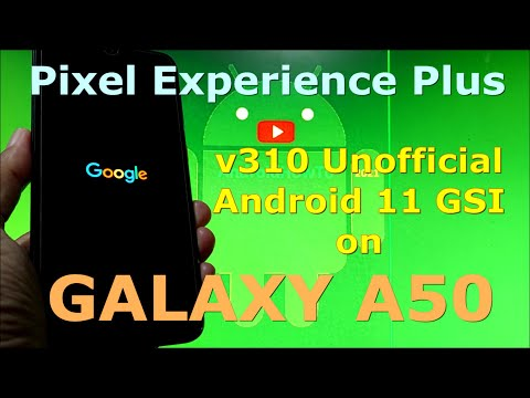 Pixel Experience Plus 11.0 v310 on Samsung Galaxy A50 GSI ROM