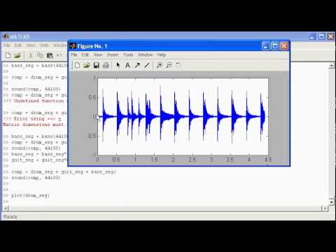 Matlab demonstration - basic signal manipulation using audio