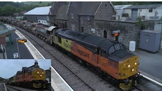 Central Wales Engineers Colas 37's at Knighton, 37175 and 219 Crewe - Llanwrtyd