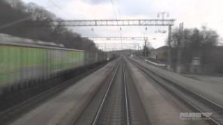 Вид из кабины электровоза от Тоннельной до Крымской за 8 минут 17 сек.(Видео от Тоннельной до Крымской (Краснодарский край) из кабины электровоза ЭП1М. Видео ускорено примерно..., 2015-12-14T15:33:01.000Z)