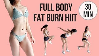 30 min Full Body Fat Burn HIIT - Abs, Arms, Thighs & Legs! (Standing Exercises Only, No Mat Needed)