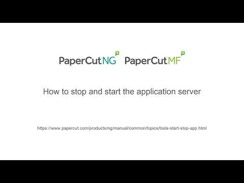 How to Stop and Start The Application Server - YouTube