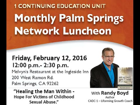 """Randy Boyd presenting on """"Healing The Man Within: Hope for Victims of Childhood Sexual Abuse."""""""