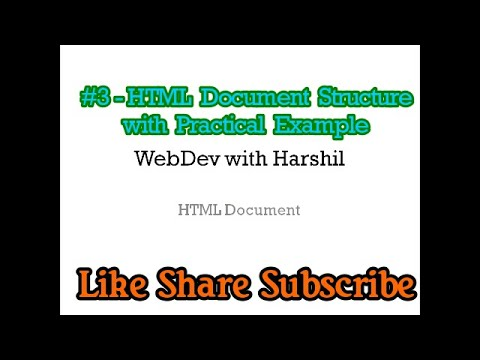 #3 - What Is HTML Document Structure| What Is HTML Elements Or Tags| HTML5 Tutorial For Beginner