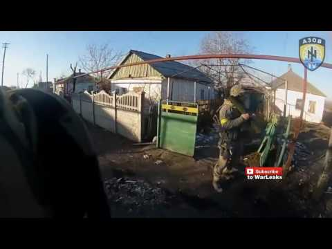 040 Ukraine War 2015   Ukrainian Paramilitary Helmet Cam Combat Footage From Heavy Clashes  In Shiri