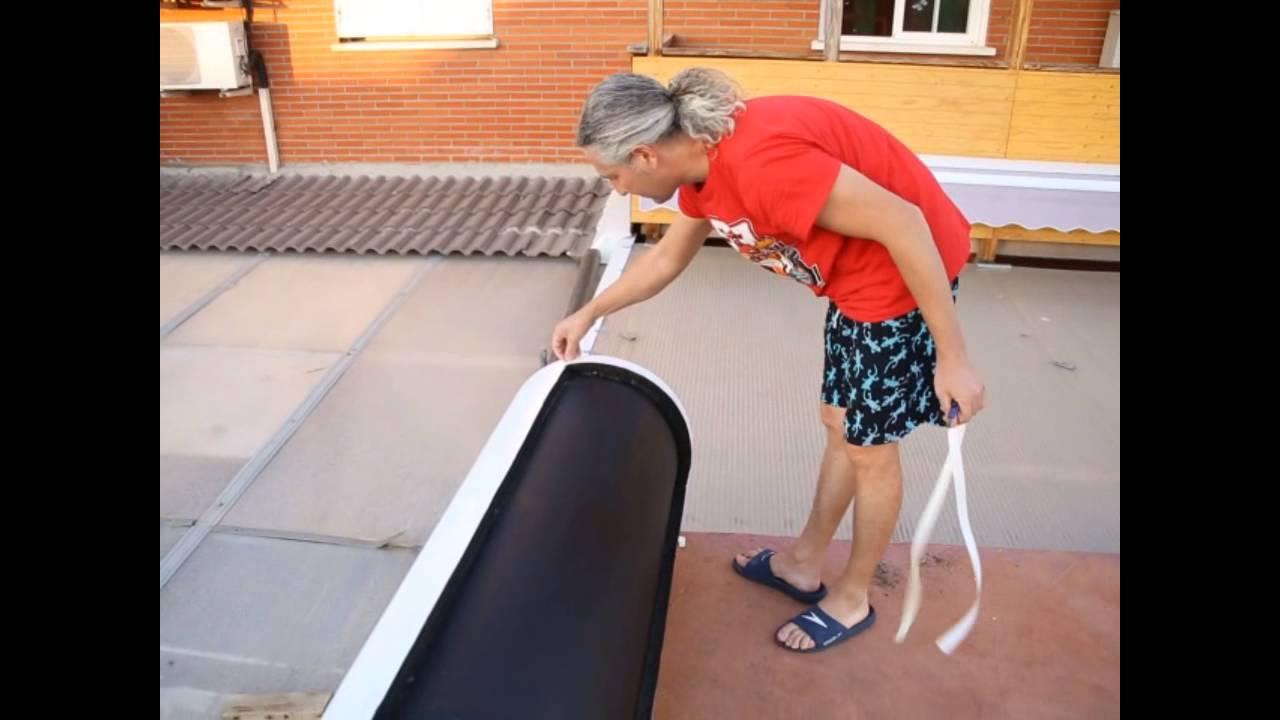 Brico calentador solar ducha piscina casero diy youtube for Calentador solar piscina casero
