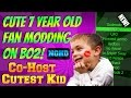 Black Ops 2 Cute 7 Year Old Fan Mods! (Being Nice And Giving Free Co-Host!) *Cutest Video Ever!