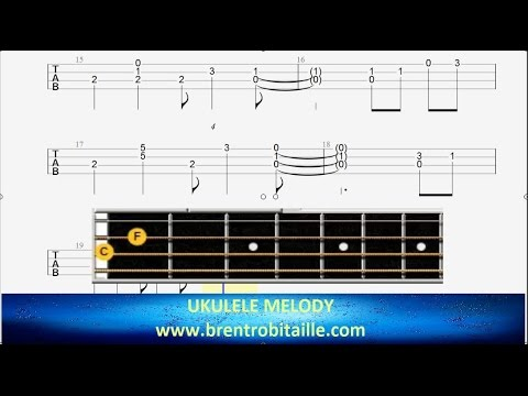 Ukulele Tab Stay With Me Arrangment Chord Melody Youtube