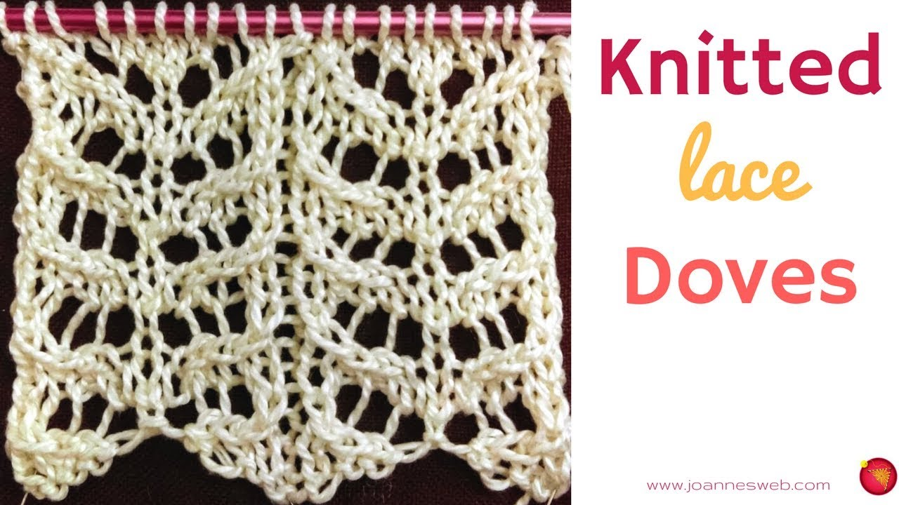 Knitted Doves - Knitting Wing Pattern - Lace Knitting Patterns - YouTube