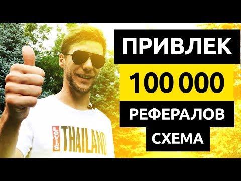 100,000+ РЕФЕРАЛОВ за 250 дней. Как Заработать Деньги на Реферальной Программе без вложений