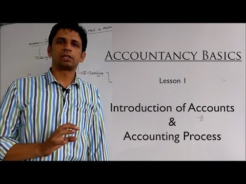 Accounting | Lesson 1 | Introduction to Accounting & Accounting Process