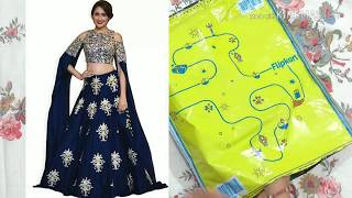 Flipkart embroidery lehenga review| new lehenga| lehenga choli| bridal lehenga| crop top gown|लहंगा