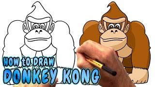 How to Draw Donkey Kong from Nintendo