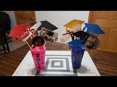 #graduationcenterpiece #dollartree #graduationdecor DIY Graduation Centerpiece +Dollar Tree