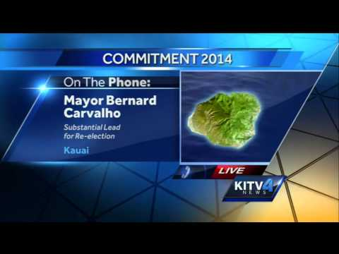 Kauai Mayor Carvalho details focus for office while leading in results