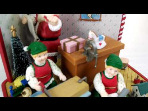 Santa's Workshop Animated Musical Figurine by Christmas Expressions